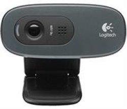 Logitech C270 HD Webcam - 3MP Still Images HD 720P Video Built-in MIC Auto Focus Fluid Crystal Technology USB Connection - Grey Retail Box