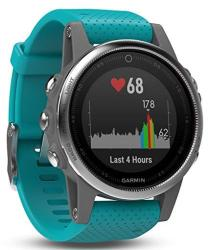 Fenix Garmin 5S - Silver With Turquoise Band