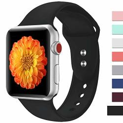 Misker Sport Band Compatible With Watch 42MM 38MM 40MM 44MM Soft Silicone Strap Replacement Wristbands Compatible With Watch Sport Series 4 3 2 1