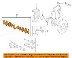 2015-2016 Honda Fit Front Brake Pads - 45022-T5R-A01