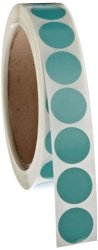 "Roll Products, Inc Roll Products 119-0003 Adhesive Dot Label 3 4"" Diameter For Inventory And Marking Salmon Roll Of 1000"