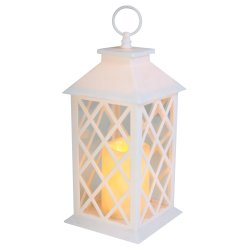 SANTA TRADING - Lantern Light White Battery Operated