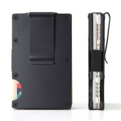 Slim Aluminium Rfid Card Wallet With Moneyclip