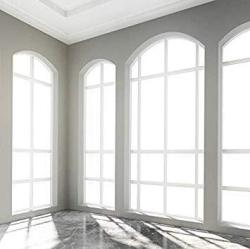Baocicco 10X10FT Interior Western Architecture Backdrop Church Arched Door Bright Windows Sunshine Photography Background Wedding Ceremony Birthday Pa