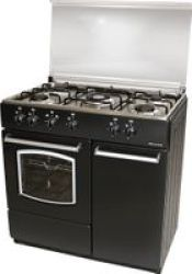Lks Inc Delta 5-BURNER Gas Stove With Oven And Cabinet Black