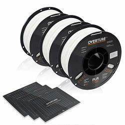 Overture Pla Filament 1.75MM With 3D Build Surface 200MM 200MM 3D Printer Consumables 1KG Spool 2.2LBS Dimensional Accuracy + - 0.05 Mm Fit Most