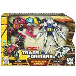 Transformers Hunt For The Decepticons Exclusive Deluxe Action Figure 2PACK Rotorwash Rumble Arcee Tailwhip