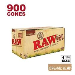 Raw 900 Organic 1 1 4 Cones - W Gallery Scoop Sticker - Pure Hemp 1.25 84MM Pre-rolled Cones - 26MM Filter Tips - Natural Unbleached Unrefined Rolling