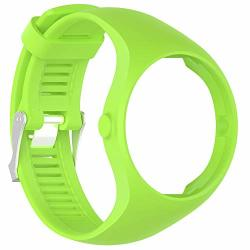 TYEWA98556 New Ungrade 2019 Solid Color Soft Silicone Smart Bracelet Watch Strap Wrist Band For Polar M200 - Lime