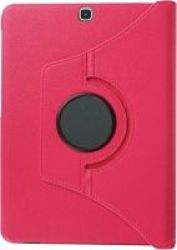 """Tuff-Luv Rotating Leather Case Cover for Samsung Galaxy Tab S2 9.7"""" in Magenta"""