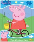 Peppa Pig 9PC Wood Board Puzzle