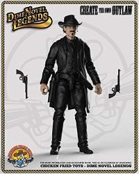 """Dime Novel Legends 1 18 Scale 4"""" Tall Old West Action Figure Man In Black"""