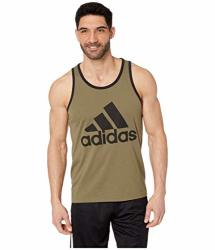 Adidas Badge Of Sport Classic Tank Top Raw Khaki black Md