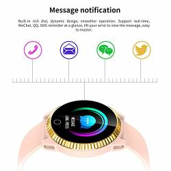 Csyy-yj Weather Forecast Smart Bracelet IP67 Waterproof Sports Pedometer Watch Call Reminder Sedentary Reminder Activity Tracker Pink
