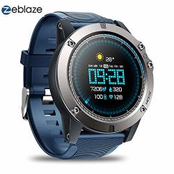 Zeblaze Vibe 3 Pro - Colorful Touch Display Sports Fitness Tracker Heart Rate IP67 Waterproof Rugged Military Remote Music Fitness Activity Wristband Smartwatch For