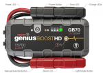 Noco GB70 2000 Amp Ultrasafe Lithium Jump Starter