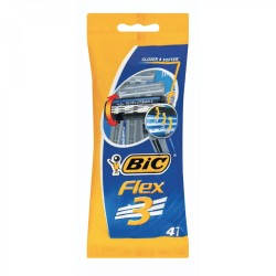 BIC SA Flex3 Mens Disposable Razors Pack 4s