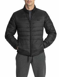 Pro Club Men's Lightweight Packable Water-resistant Down Jacket Black 3X-LARGE