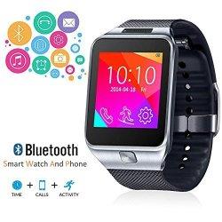 InDigi 2- In -1 Interconvertible GSM Wireless Bluetooth Smart Watch & Phone W Camera Unlocked Si