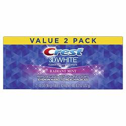 Crest 3D White Whitening Toothpaste Radiant Mint 4.1 Oz Pack Of 2