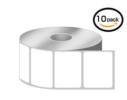 "BETCKEY 10 Rolls 1380 ROLL 1.25"" X 1"" Direct Thermal Zebra eltron Compatible Labels - Premium Resolution & Adhesive"