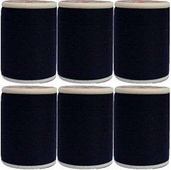 Venus Dew Drops 6 Spool 100 % Polyester All Purpose Sewing Thread Spool 600 Yards Per Spool Black & Ball Head Straight Pins