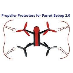 Celendi For Parrot Bebop 2.0 Props Bumper 2PC Propeller Guard Protector Easy Mount Red