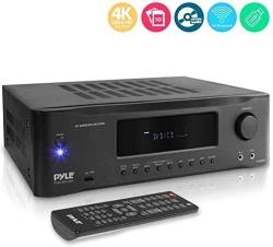 Hi-Fi 5.2-CHANNEL Bluetooth Stereo Amplifier - 1000 Watt Av Home Speaker Subwoofer Sound Receiver W radio USB Rca HDMI MIC In Wi