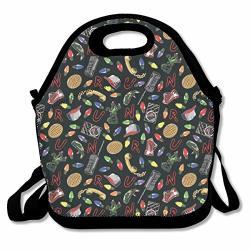 Lunch Bag Stranger Things Lunchbox For Travel Picnic Tote Handbag Shoulder Strap Women Teens Girls Kids Adults