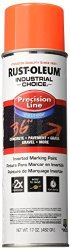 Rust-Oleum Corporation Rust-oleum 203037 M1800 System Precision Line Inverted Marking Spray Paint 17-OUNCE Fluorescent Red-orang