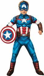 Rubie's Boy's Marvel Avengers Deluxe Captain America Costume Small