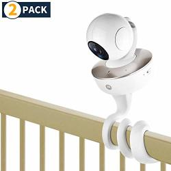 Itodos Baby Monitor Mount For Arlo Motorola Baby Monitor And Most Universal Monitors Camera Versatile Twist Mount Without Tools Or Wall Damage - 2 Pack White
