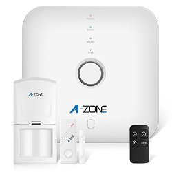 A-ZONE Smart Home Security System With Sos Alarm Panel Door window Sensors Motion Detectors Remote Control And App Control