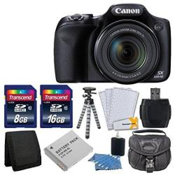 Canon Powershot Sx530 Hs Digital Camera With 50x Optical Image Stabilized Zoom With 3-inch Lcd Hd 1080p Video Black + Extra Batt