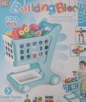 Building Blocks - Blue Cart 100PC