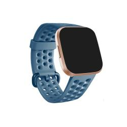 For Fitbit Versa 2 Breathable Silicone Watch Band Cyan