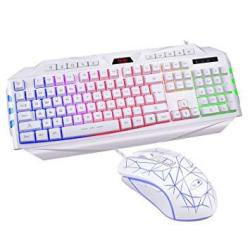 CHENTAOCS Mechanical Feel Notebook Desktop Computer Wired USB External Keyboard Products Keyboard Style : F