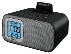 Ihome IBT22BC Bluetooth Bedside Dual Alarm Clock With USB Charging And Line-in Black
