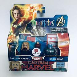 Diamond Select Toys Minimates Captain Marvel - Captain Marvel & Bron Char Exclusive Minifigues