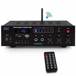 Wireless Bluetooth Karaoke Amplifier - Home Car Bus Tours 300 Watts 2 Channel Digital Home Audio Pa Receiver System 2 Microphone
