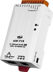 ICP DAS USA ICP-TGW-715 Tiny Modbus Tcp To Modbus Rtu Ascii Poe Gateway With 1 RS-422 RS-485 Port.