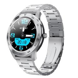 DT98 1.3 Inch Tft Color Screen Stainless Steel Watchband Smart Watch Support Call Reminder heart Rate Monitoring blood Pressure Monitoring sleep Monitoring Silver