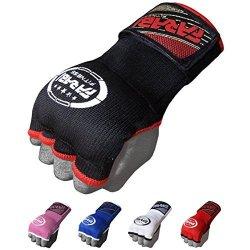 Farabi Sports Inner Gloves Boxing Fist Padded Hand Wrap Mma Fist Pad By Farabi Black S m