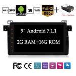 7.1 Quad Core 9 1024600 Car DVD Gps Wifi Model For Bmw E46 Support Mirror Link obd dab fm am usb bluetooth mirror Link With Canb