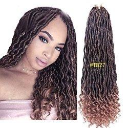 Xcxingjia Goddess Faux Locs Curly Faux Locs Crochet Hair Wavy Faux