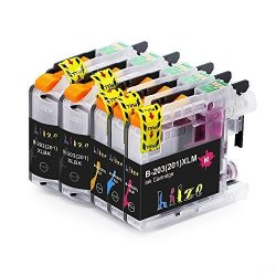 HITZE LC203 XL High Yield Ink Cartridge Replacement For Brother LC203XL LC201 Compatible With Brother MFC-J480DW MFC-J885DW MFC-J485DW MFC-J880DW MFC-J680DW 2 Black 1 Cyan