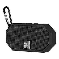 Altec Lansing IMW257-BLK MINI H2O Wireless Bluetooth Waterproof Speaker Floats On Water Made For Outdoors Indoors Beach Rugged &