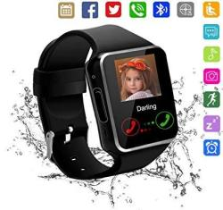 Kkcite Smart Watch Touch Screen Sweatproof Bluetooth Smartwatch Phone With Sim 2G GSM For Samsung NEXUS6 Htc Sony And Android Smartphones Support Slee