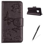 Magqi For Samsung Galaxy S9 Case Samsung Galaxy S9 Luxury Soft Pu Leather Cover Mirror Butterfly Sunflower Series Design With Ma