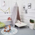 ONMIER Mosquito Net Canopy Cotton Canvas Dome Princess Bed Canopy Kids Play Tent Mosquito Net Children's Room Decorate For Baby